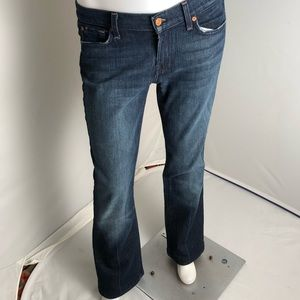 7 for All Mankind pink stitched bootcut jeans 30